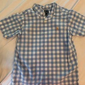 Boys Polo by RL size 5 short sleeve button down